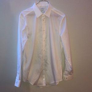 Calvin Klein White Long Sleeve Button Up